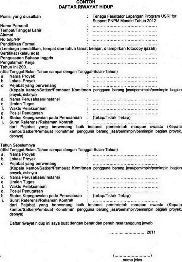 Contoh Daftar Riwayat Hidup Melalui Email Backup Gambar