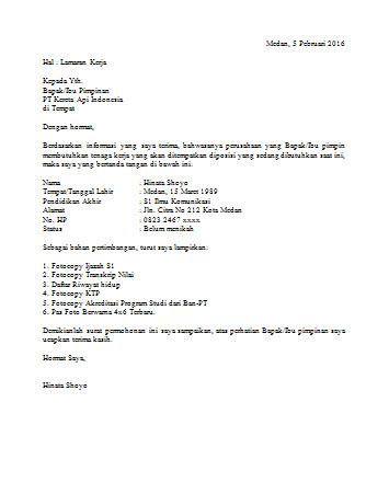 Contoh Surat Lamaran Untuk Pt Kereta Api Backup Gambar