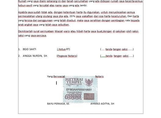 Rumah Contoh Surat Wasiat Di Malaysia
