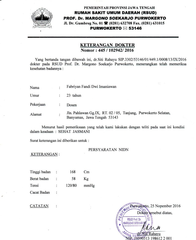 Contoh Surat Keterangan Dokter Operasi Backup Gambar