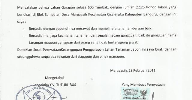 Contoh Surat Perjanjian Lahan Parkir Backup Gambar