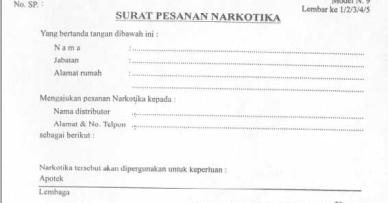 Contoh Surat Pemesanan Obat Narkotika Backup Gambar