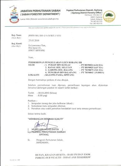 Contoh Surat Permohonan Tanah Kerajaan Backup Gambar