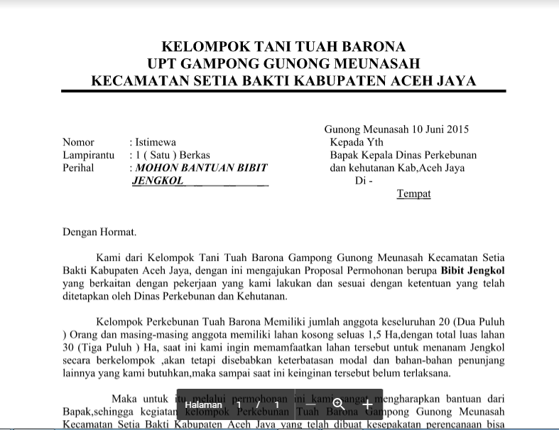 Contoh Surat Permohonan Bantuan Bibit Sawit Tygpress