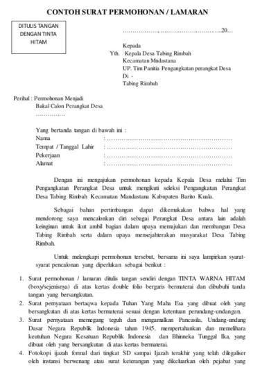 Contoh Surat Teguran Untuk Perangkat Desa Backup Gambar