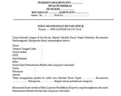 Contoh Surat Mutasi Guru Sukwan Backup Gambar