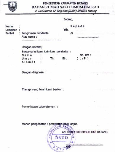 Contoh Surat Sakit Dokter Jakarta Backup Gambar