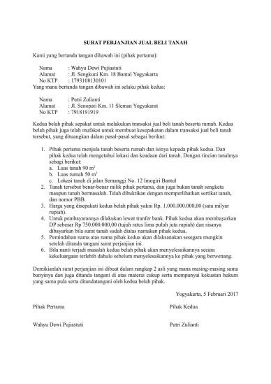 Contoh Surat Perjanjian Sewa Tanah Di Malaysia Backup Gambar