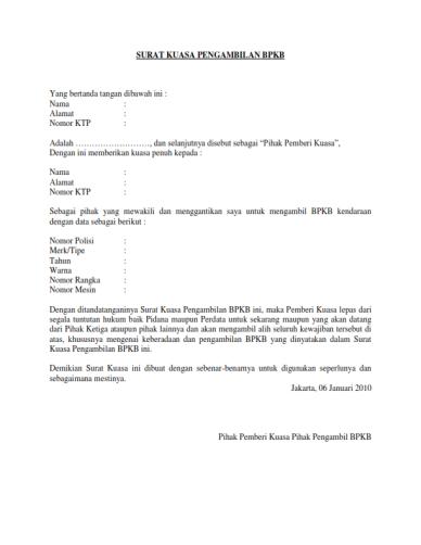 Contoh Surat Kuasa Penggantian Kartu Xl Backup Gambar
