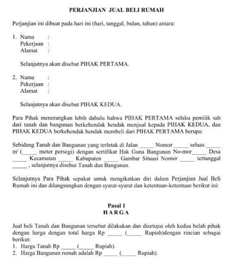 Contoh Surat Pernyataan Jual Rumah Detil Gambar Online