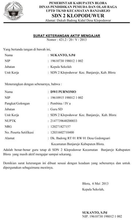 Contoh Surat Tugas Kepala Sekolah - Aneka Contoh