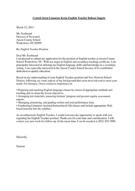 Contoh Surat Lamaran Pekerjaan Dalam Bahasa Inggris Dan Artinya Backup Gambar
