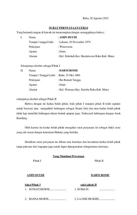 Ikrar Talak Contoh Surat Talak Kosong Nusagates