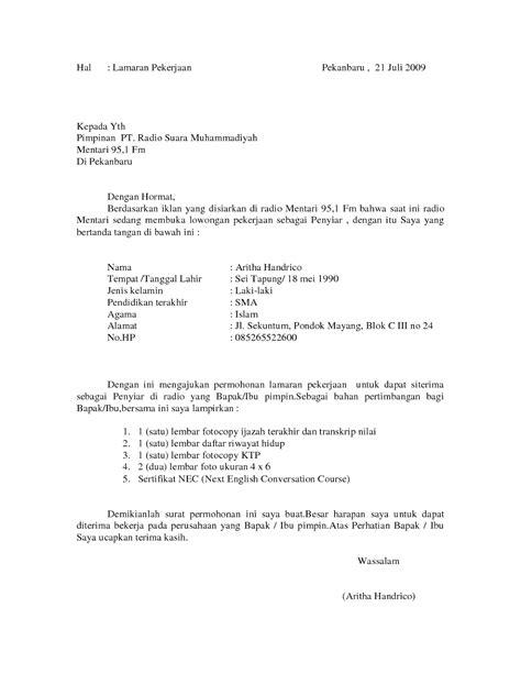 Contoh Surat Lamaran Honorer Di Instansi Pemerintah Backup Gambar