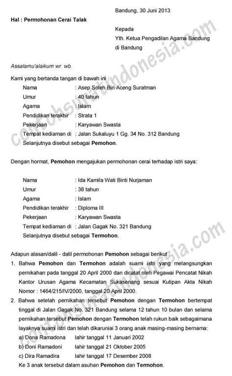 Contoh Surat Keterangan Cerai Dari Pengadilan - Backup Gambar