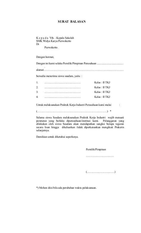 Contoh Surat Balasan Izin Penelitian Dari Perusahaan