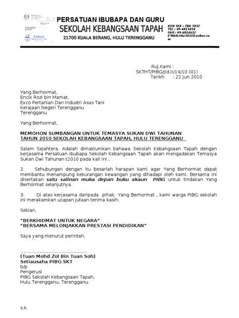 Contoh Surat Permohonan Sumbangan Yb Backup Gambar