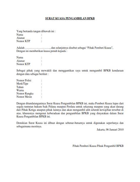 Becoming Phill Surat Kuasa Untuk Pengambilan Bpkb Di Leasing