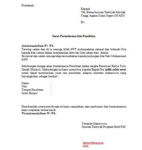 Contoh Surat Izin Penelitian Ilmiah Backup Gambar