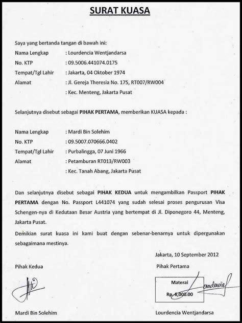 Contoh Surat Kuasa Untuk Kepolisian Tygpress
