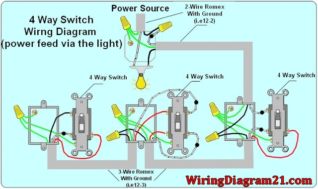 4 Way Switch Diagram Wiring  U2013 Backup Gambar