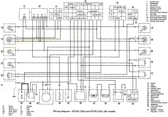 Wiring Diagram Yamaha Dt 175 Mx  U2013 Backup Gambar